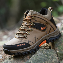 2016 New Autumn Winter Genuine Leather Men's Outdoor Sport Shoes Plus Velvet Male Hiking Shoes Warm Trekking Waterproof Shoes
