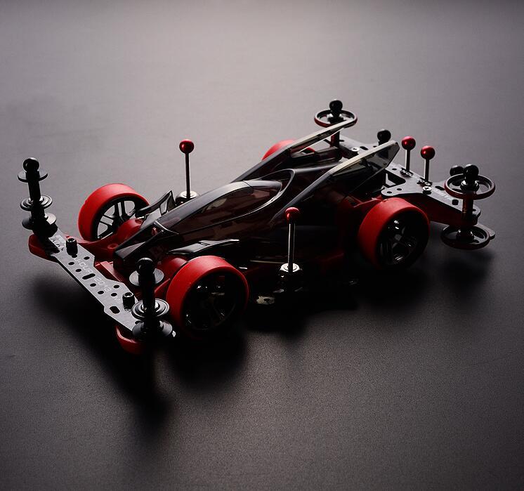 Tamiya Mini สี่ล้อไดรฟ์รถรุ่น 95286 AR Chassis Hero Thunder Shot Self Made อัพเกรดชุด-ใน ชิ้นส่วนและอุปกรณ์เสริม จาก ของเล่นและงานอดิเรก บน   2