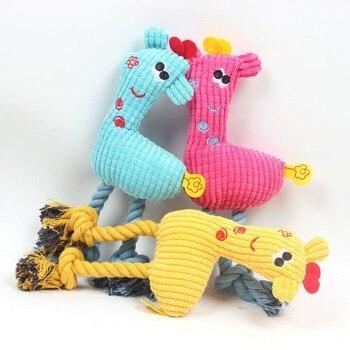 Juguetes de peluche en forma de ciervo para masticar, mascotas juguetes para...
