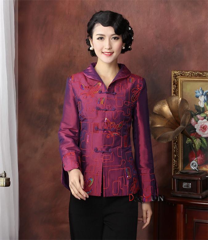 f01cb8e18b280 Seçtiğiniz için 2 renk toptan perakende çinli kadın İpek/saten giyim ceket  ceket giyim kostüm