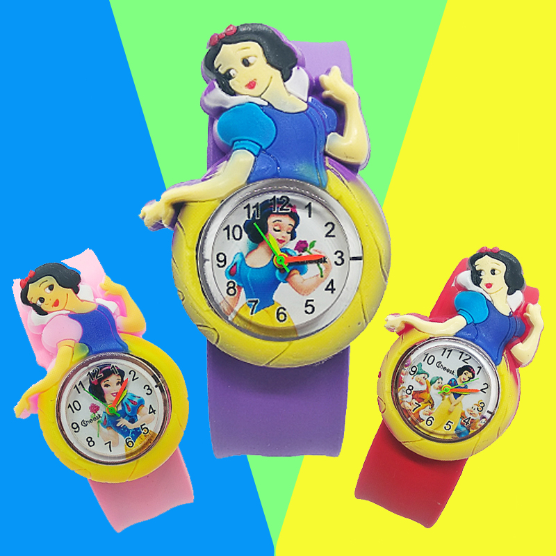 New Cartoon Princess Women Watch Children Bracelet Rubber Kids Watches For Girls Clock Baby Toys Christmas Gift Relogio Infantil