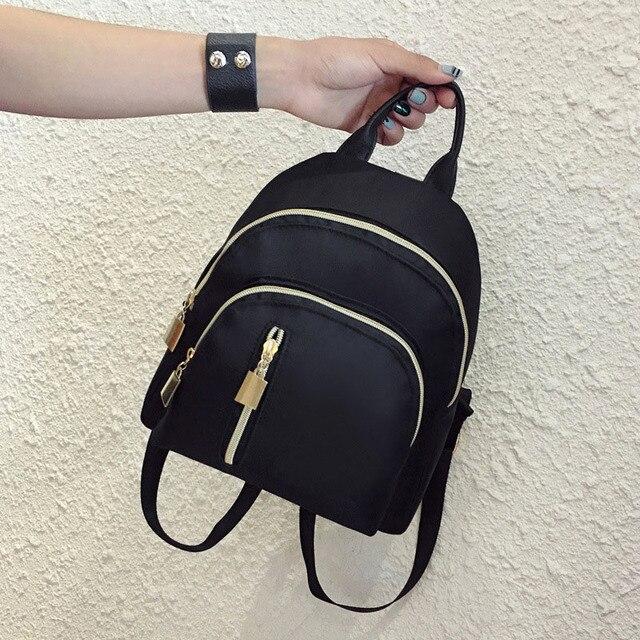 e568a9fc7757 Women Travel Backpack Oxford Cloth Zipper Shoulder Bag Casual Mini Backpacks  AB W3