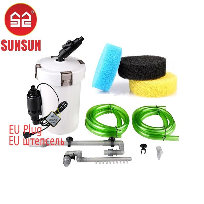 Sunsun aquarium filtre avec pompe Purificateur ultra-silencieux aquarium traîneau filtre Éponge seau externe 220 V 6 W/HW602B/HW603B