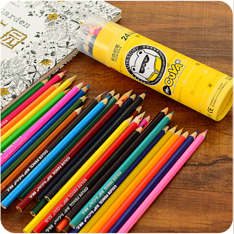 24 Colored Pencils Wood Color Pencil Set For Writing Drawing Secret Garden Lapis De Cor Papelaria Office School Supplies 6813 On Aliexpress