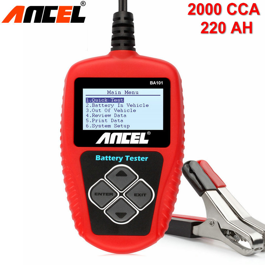 12 Volt Battery Tester Review : V car battery tester ancel ba digital analyzer