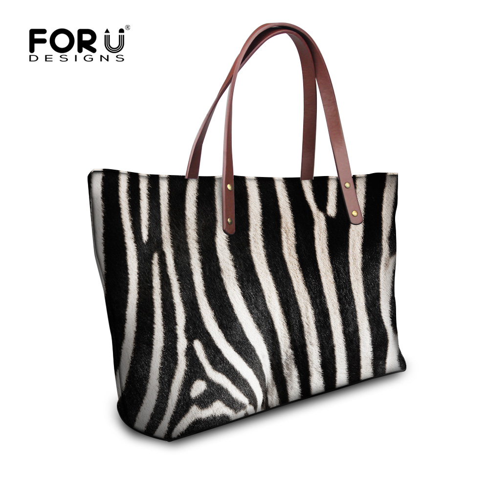 FORUDESIGNS Fashion Women Handbag Animal Casual Shoulder Bags Vintage for Ladies Top Handle Bags Tote Bolsas