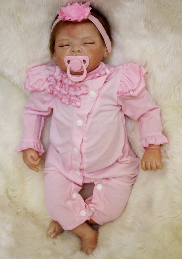 55 cm sleeping babies dolls silicone baby toys alive reborn doll 22 inch silicone dolls reborn doll for girls toys for children in Dolls from Toys Hobbies