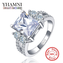 Plata de Ley 925 anillos de la vendimia Para Las Mujeres de la CZ Diamond Anillo de Compromiso de La Boda Anillos de Las Mujeres Bijoux Joyería de La Vendimia Anillo AR125