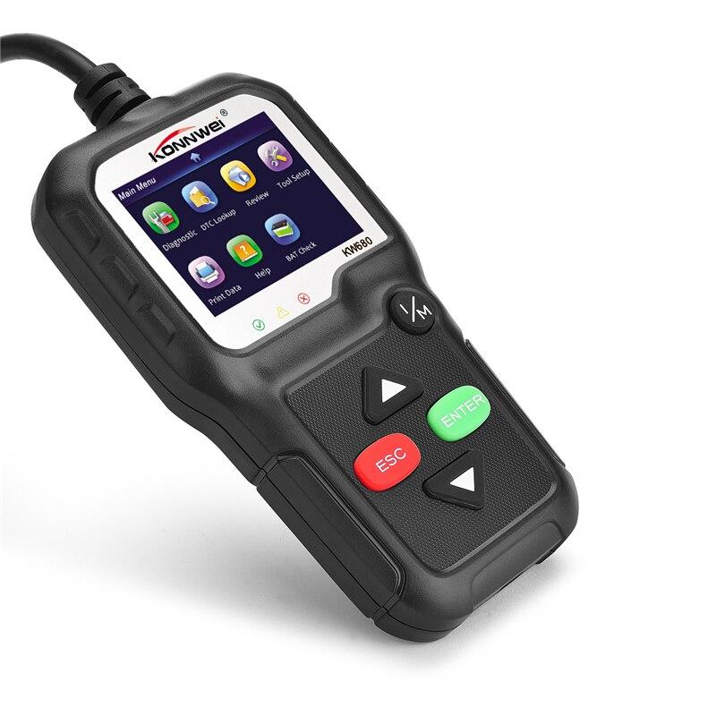 OBD2 Scanner OBD Car Diagnostic Auto Diagnostic-Tool KONNWEI KW680 Read Clear Fault Error Codes Russian OBD2 Automotive Scanner