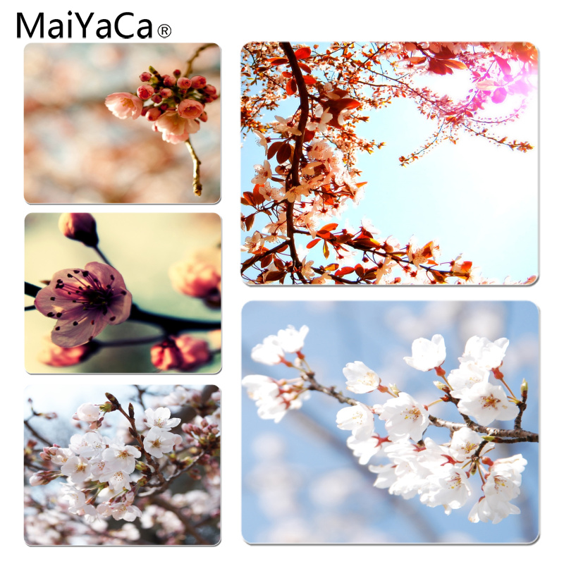 MaiYaCa Boy Gift Pad Cherry Customized laptop Gaming mouse pad Size for 18x22cm 25x29cm Rubber Mousemats