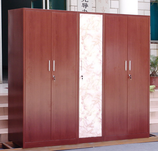 Steel Furniture Transfer Printing Cabinet Wood Grain Clothes Changing