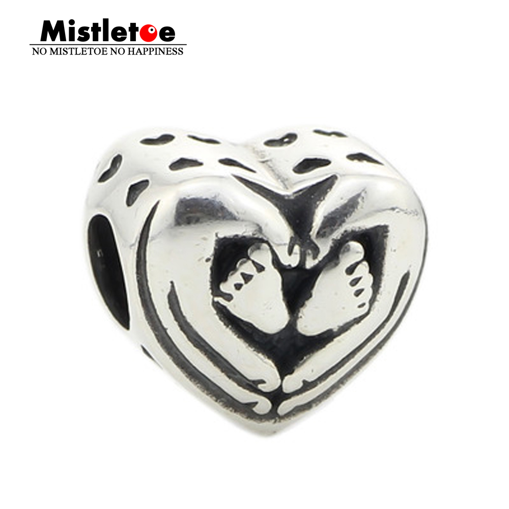 Mistletoe Jewelry Genuine 925 Sterling Silver You Are In My Heart Charm Bead Fits European Brand