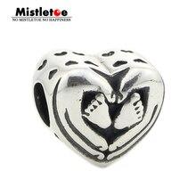 Mistletoe Jewelry Genuine 925 Sterling Silver You Are In My Heart Charm Bead Fits European Brand 3.0mm Bracelet