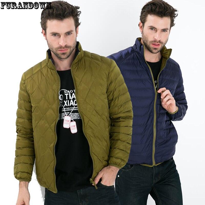 Winter Jacket Men Famous Brand Ultralight Down Coat Jackets White Duck Down Parkas 2016 Plus Size XXXL