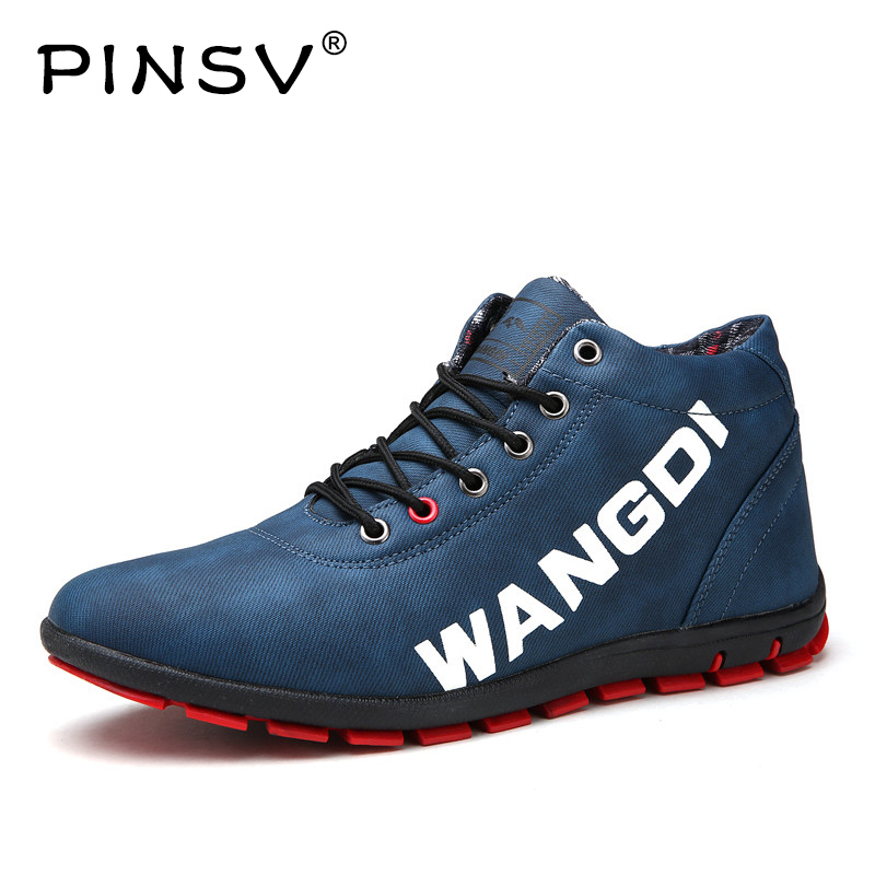 PINSV Winter Shoes Men Sneakers Stretch Fabric Casual Shoes Men Flats Warm Plush Sneakers Men Shoes Sapato Masculino 6 Colors 2018 genuine leather men s vulcanized shoes black white mans footwear flats sneakers casual shoes sapato masculino