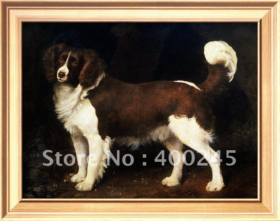 Милые животные картина маслом собаки спаниель в ландшафте Джордж стабббс холст искусство Высокое качество+ ручной работы