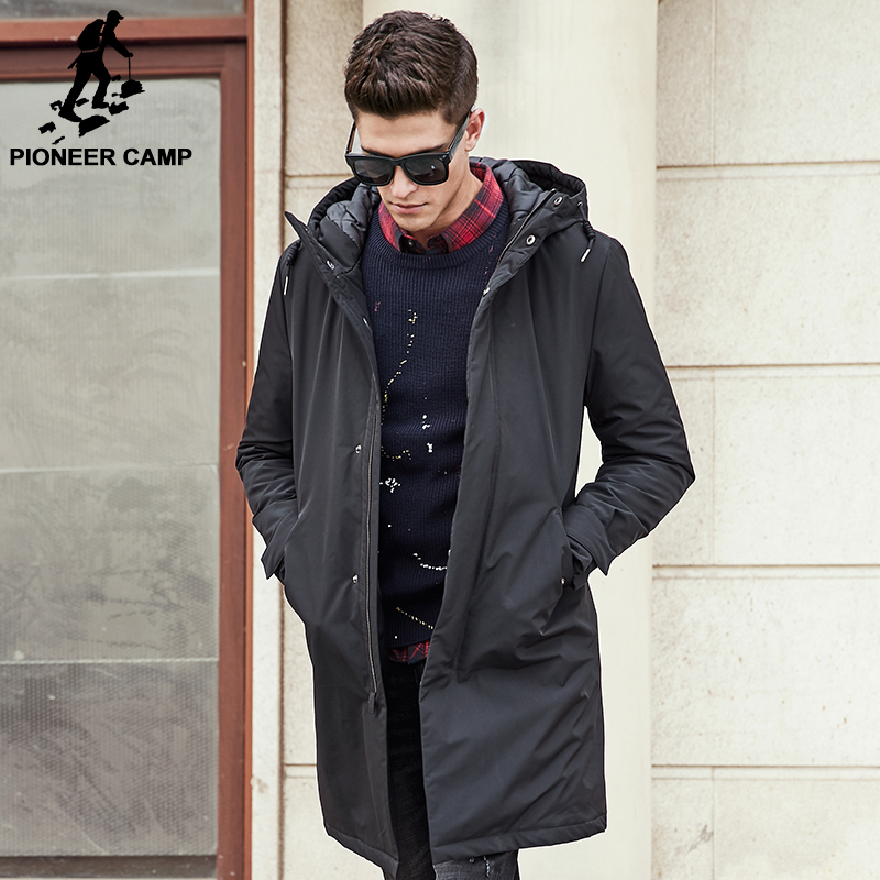 Pioneer Camp long warm winter Jacket men waterproof brand clothing ...
