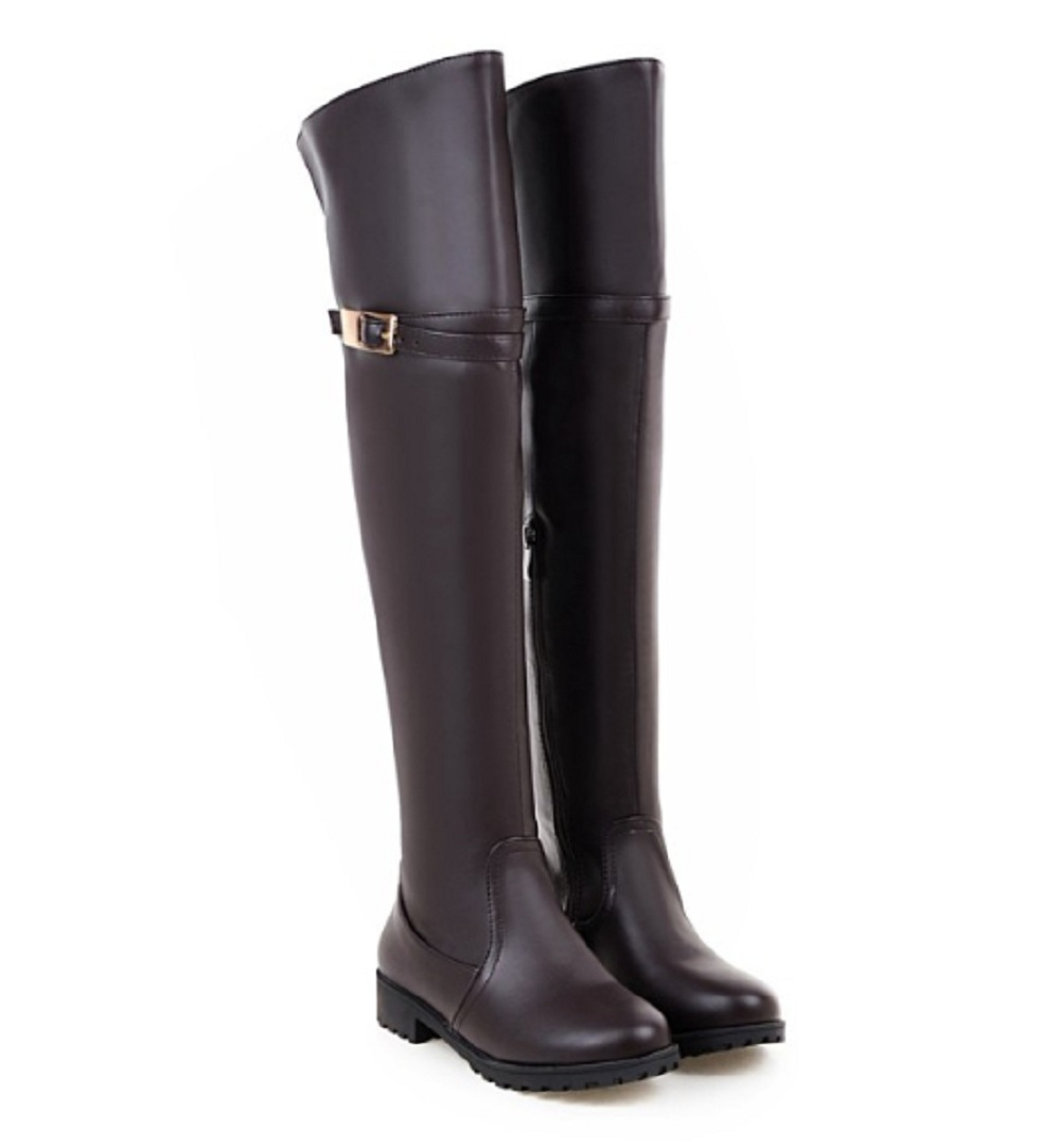 Over the knee boots female autumn/winter boots women low heel high boots plus size 43 black equestrian riding shoes woman &A71 scoyco motorcycle riding knee protector extreme sports knee pads bycle cycling bike racing tactal skate protective ear