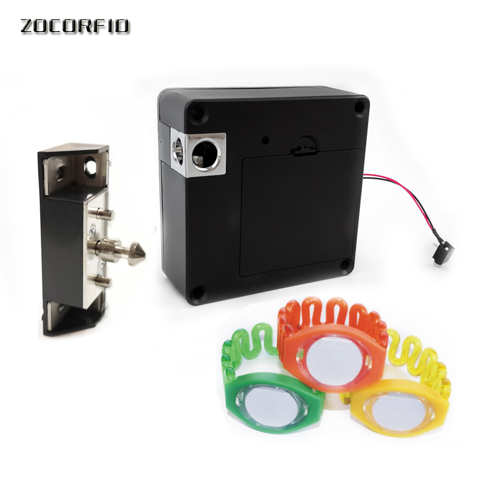 Hardware Responsible High Quality Drawer Lock Electronic Cabinet Lock Mini Electric Bolt Lock With Emergency Key Home Improvement