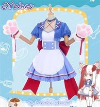 My Hero Academia Coffee Shop Little Hero Todoroki Shoto Cafe Maid Female Cosplay Costume Cat Woman Dress little hero стучалка little hero с молоточком