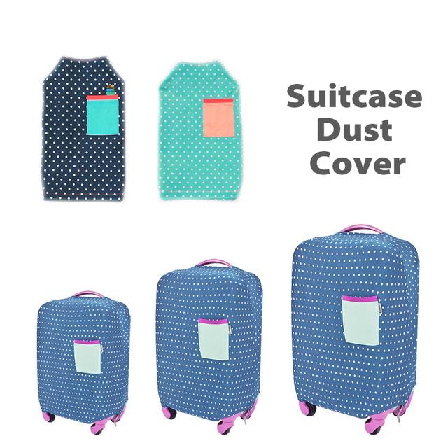 Mala de viagem da bagagem à prova d' água capa protector elastic estiramento tecido do trole mala proteger da poeira impresso para 18-28 polegada