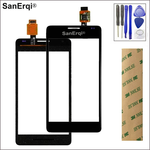 SanErqi Touch glass Panel For <font><b>Sony</b></font> <font><b>Xperia</b></font> <font><b>E1</b></font> D2004 <font><b>D2005</b></font> Touch Screen Digitizer with logo free shipping+tools image