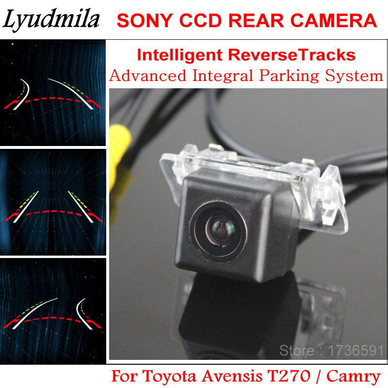Lyudmila Car Intelligent Parking Tracks Camera FOR Toyota Camry / Avensis T270 / HD Car Back up Reverse Rear View Camera lyudmila car intelligent parking tracks camera for hyundai creta ix25 2014 2017 hd back up reverse car rear view camera