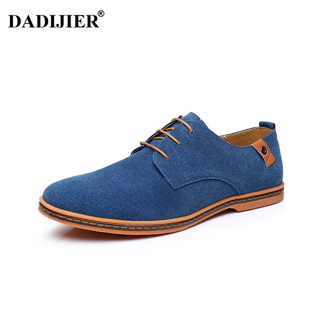 DADIJIER Hommes chaussures 2018 Nouvelle Mode En Daim En Cuir chaussures  Hommes Sneakers oxfords Casual pour
