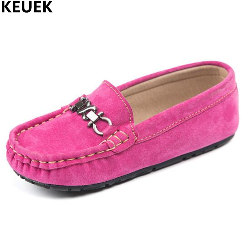 New Spring Autumn Fashion Children Flats Genuine Leather Shoes Boys Girls Kids Single Shoes Loafers Student Baby Shoes 018