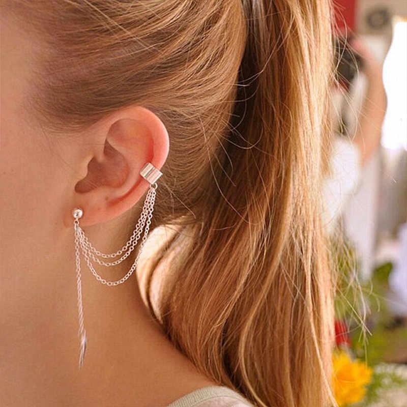 Aretes Es667 Bijoux Leaf Earrings Leaves Clip Ear Cuff Earring For Women Wedding Jewelry Brincos Boucle D'oreille Wholesale