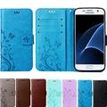 A3 A5 J1 J3 J5 J7 2015 2016 Core 2 Grand Prime Бабочка кожа Откидная Крышка Бумажник Case для Samsung Galaxy S4 S5 mini S6 S7 край