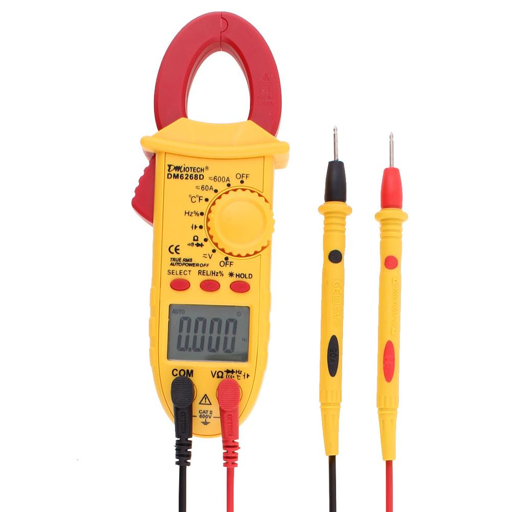 LCD Display Digital Clamp Meter AC DC Volatage Current Capacitance Resistance Temperature Frequency Handheld Multimeter Tester uxcell digital multimeter ac voltage current resistance capacitance frequency temperature tester meter 600mv 6v 60v 600v 1000v