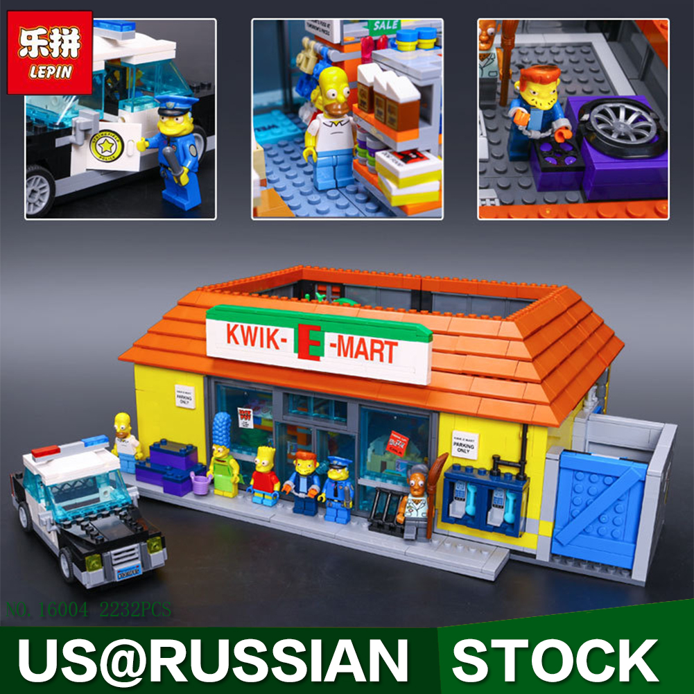 New LEPIN 16004 2232Pcs the Simpsons Action Model Building Block Bricks Compatible 71016 for children gift lepin 22001 pirate ship imperial warships model building block briks toys gift 1717pcs compatible legoed 10210