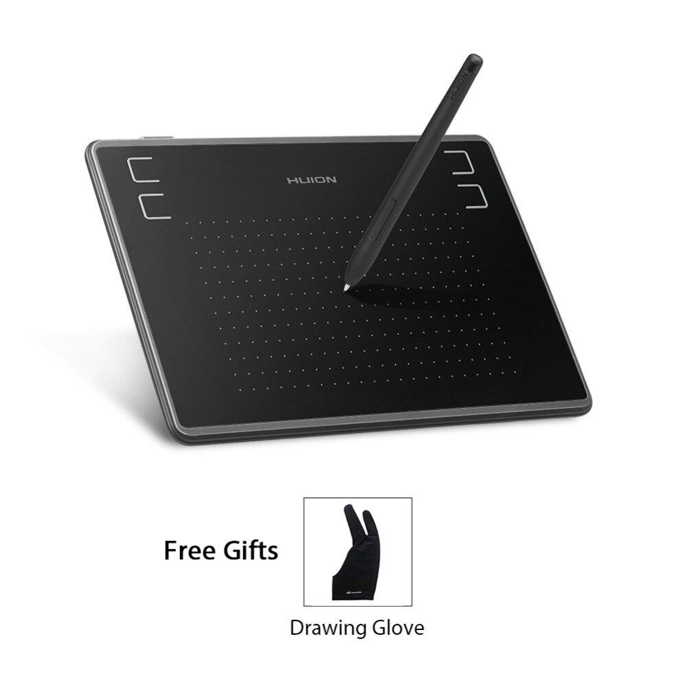 Huion 4x3 pulgadas H430P gráficos del dibujo de la pluma de la tableta Digital 4096 niveles de sensibilidad a la presión con la batería- diseño libre