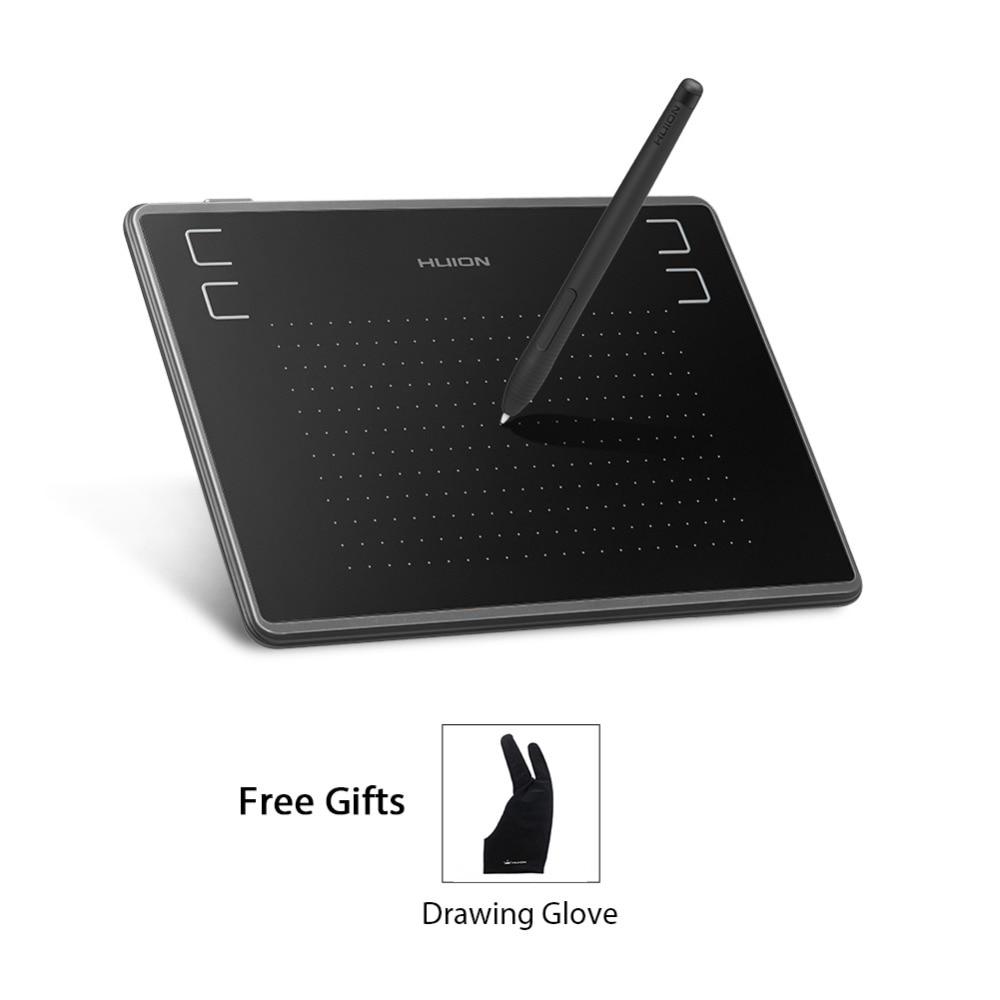 Huion 4x3 pouces H430P graphique dessin stylo tablette numérique tablette 4096 niveaux de sensibilité à la pression avec Design sans batterie