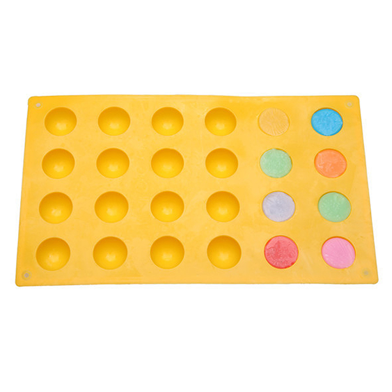 24 Half Ball Sphere Silicone Mold Cake Muffin Pastry Jelly Mould DIY Tray Baking Cake Decoration