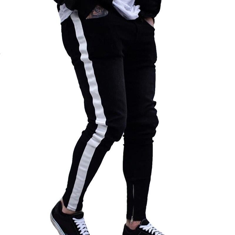 NIBESSER, мужские брендовые обтягивающие джинсы, брюки, повседневные брюки,, джинсовые черные джинсы, homme, Стрейчевые узкие брюки размера плюс, уличная одежда 3XL - Цвет: black 3