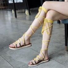 Womens Flat Boots Gladiator Sandals Footwear Shoes Sandalias Mujer Jesus Zapatos De