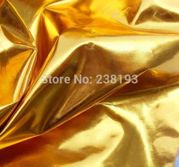 Golden Color Cloth. Family Public Decoration Material Plain Weave Style Gold Color Decorative Fabrics Column Packing.hotel