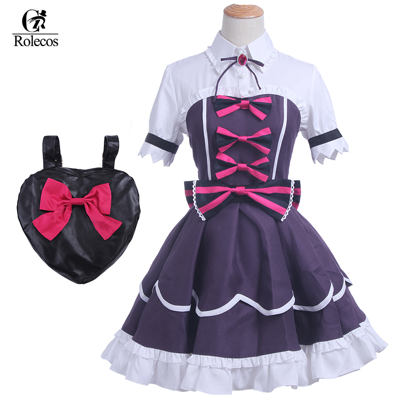 Rolecos Anime Love Live Sunshine Cosplay Costume Lovelive Tsushima Yoshiko Yohane Cosplay Gothic Lolita Dress Costume