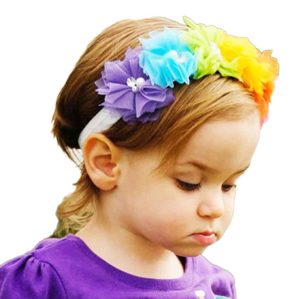 Baby Hairband Fashion Children Favourite Chiffon Flower Shaped Lovely cute Hair Accessories tiara infantil