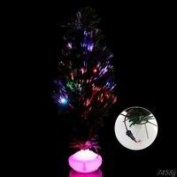 1ピース45センチled人工クリスマスツリー光ファイバ光クリスマスパーティーホームデコレーションg03ドロップ