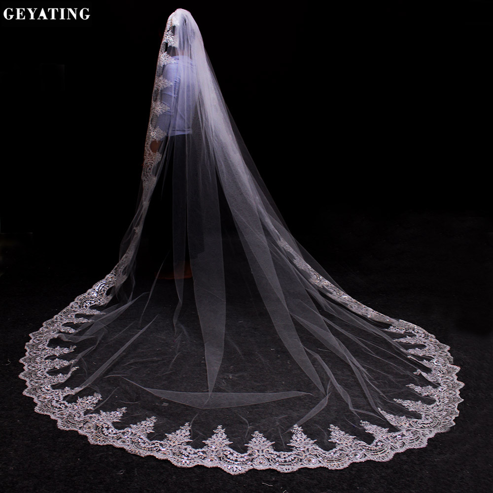 Online Buy Wholesale long lace wedding veil from China ...