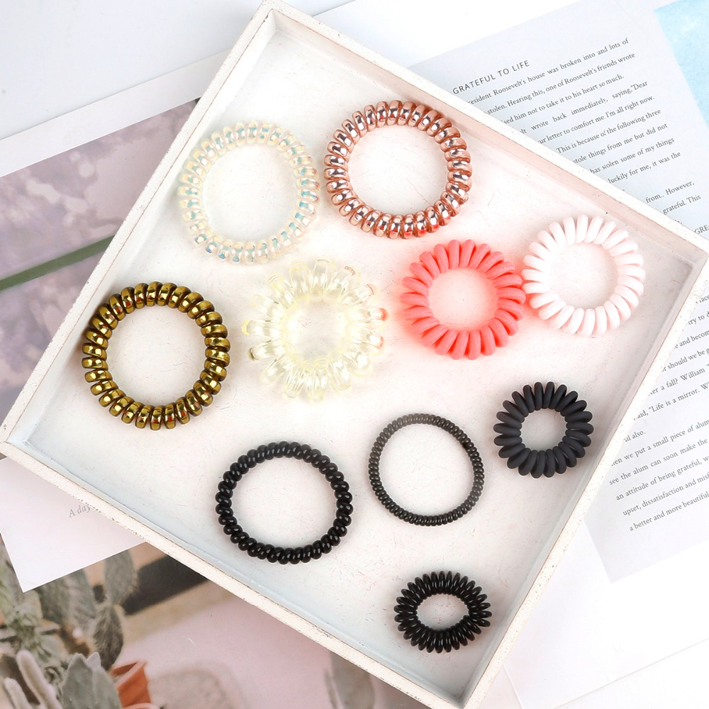 medium resolution of new candy color phone line hair tie new girl color elastic phone line hair tie and ms hair strap accessories