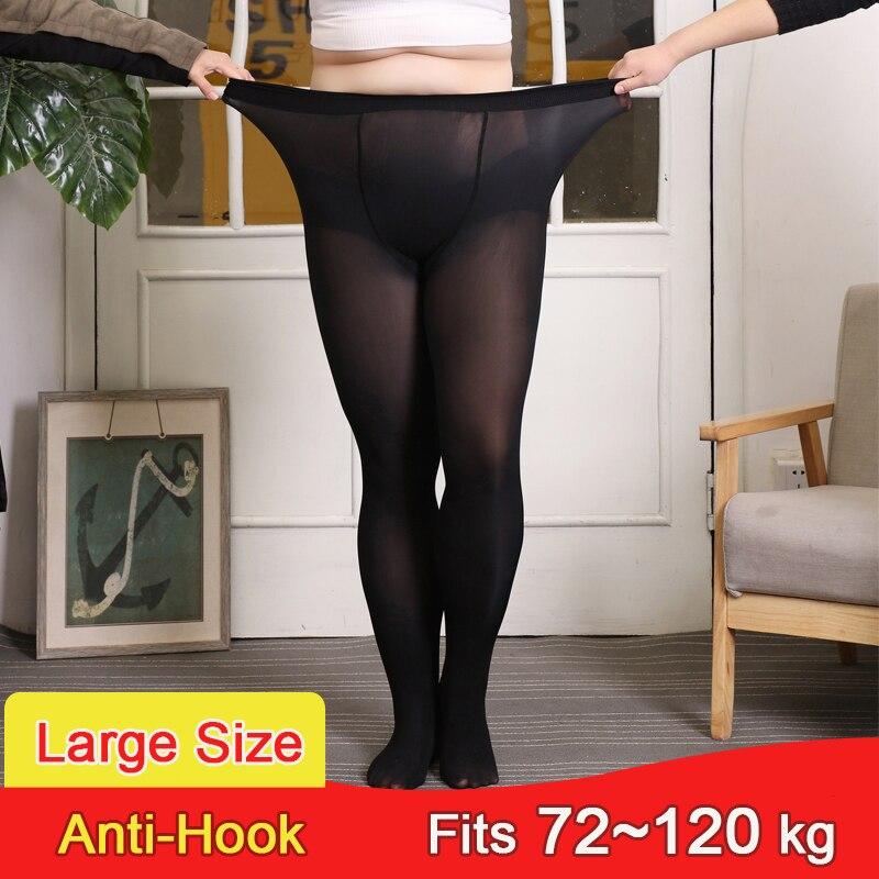 30D Sommer Dünne Frauen Strumpfhosen Plus Größe Nylons Dame Schwarz Sexy Reißfest Strumpfhosen Anti-Haken Super Elastische Strümpfe weibliche