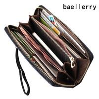 2018 new arrival da đàn ông ví chất lượng PU dài clutch thiết kế thời trang chủ sở hữu thẻ kinh doanh túi xách clips purse pocket