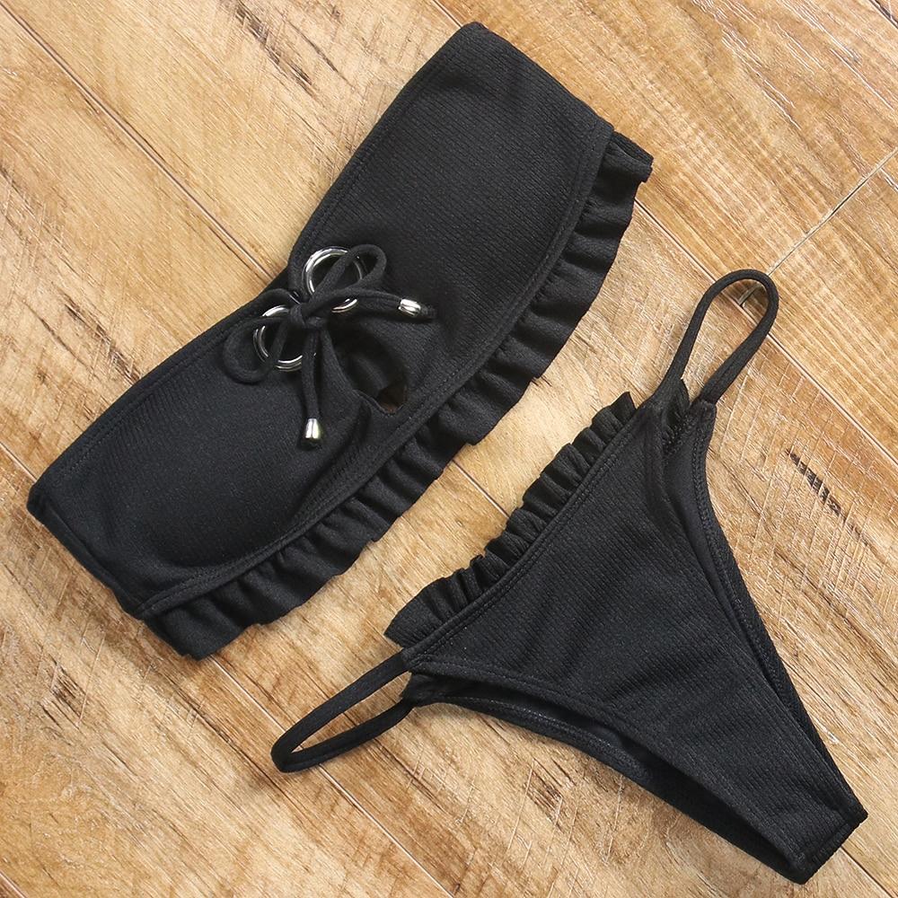 Ruffle bandeau bikini 9