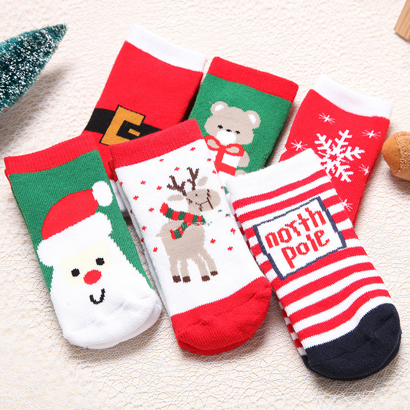 1 Pair Thick Cotton Pile Loop Warm Baby Boys Girls Ankle Socks ...