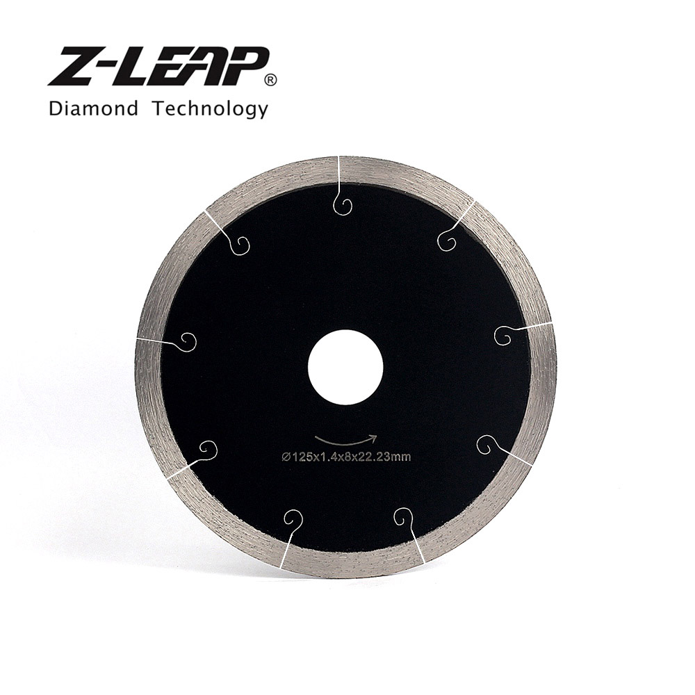 Z-LEAP 5 Inch Ceramic Tile Cutting Disc Marble Saw Blade Professional Diamond Cutting Tool Hot Pressed Segments Fast Sharpen Cut