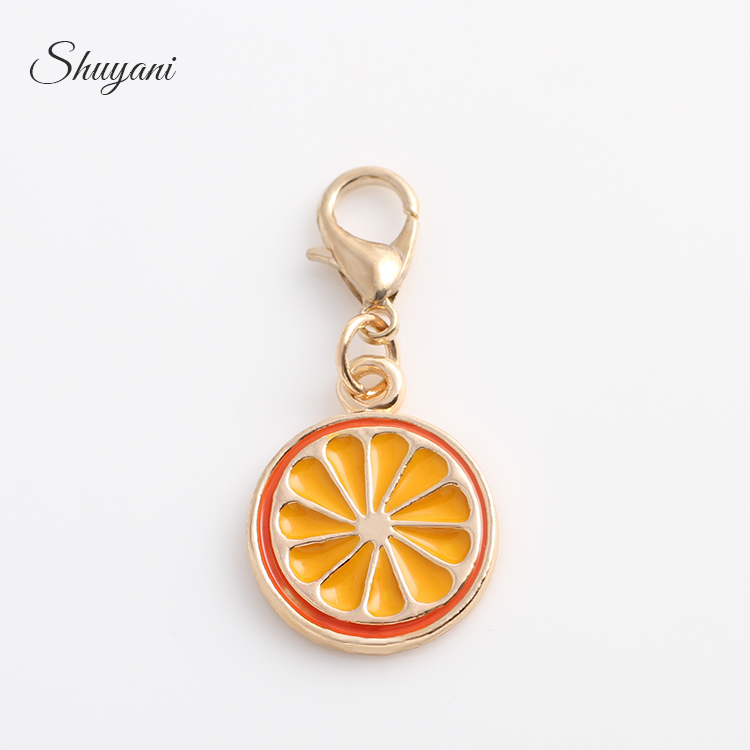 New Fashion Brands 20pcs/lot Floating Orange Dangle Charms Fit Glass Living Cheap Lockets Free Shipping CM532#